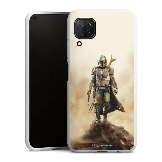 DeinDesign Handyhülle »The Mandalorian Rock« Huawei P40 Lite, Hülle Star Wars Film The Mandalorian