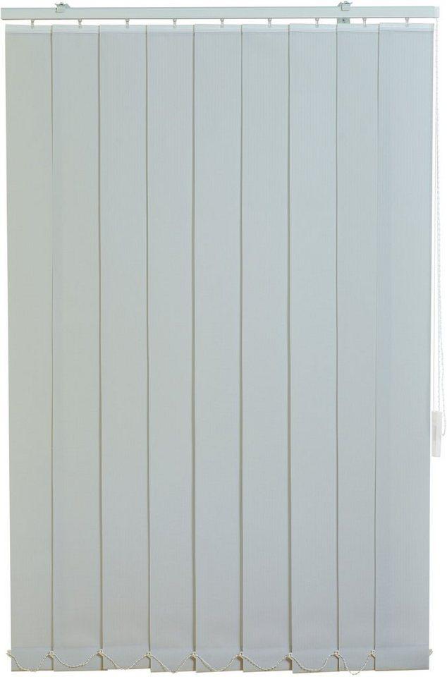 Vertikal-Lamellenvorhang, Sunlines, im Fixmaß, Lichtschutz in grau