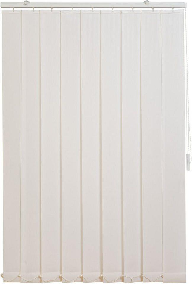 Vertikal-Lamellenvorhang, Sunlines, im Fixmaß, Lichtschutz in weiß