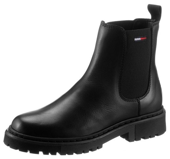 Tommy Jeans »BRANDED TAPE CHELSEA BOOT« Chelseaboots mit Logostickerei