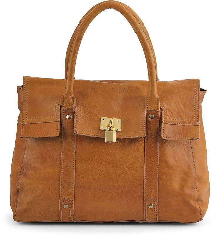 Cox Vintage-Tasche in braun-mittel