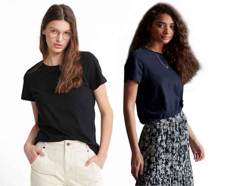 Superdry T-Shirt »Organic Cotton Orange Label Elite« (2-tlg) Doppelpack mit dezenter Logostickerei