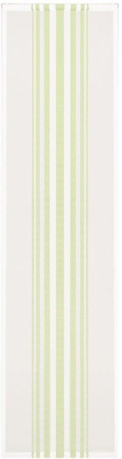 Schiebegardine, Happy Home, »Loretta«, mit Klettband (1 Stück mit Zubehör) in grün/weiß