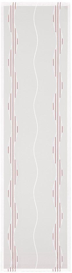 Schiebegardine, Happy Home, »Limetta«, mit Klettband (1 Stück mit Zubehör) in bordeaux/natur