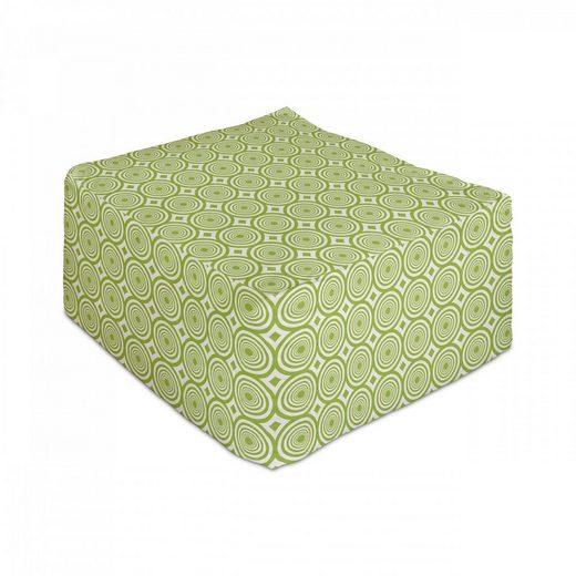 Abakuhaus Pouf »Unter Tisch Fußhocker für Wohnzimmer Büro Ottomane mit Abdeckung«, Geometrisch Vortex Whirlpool Motiv
