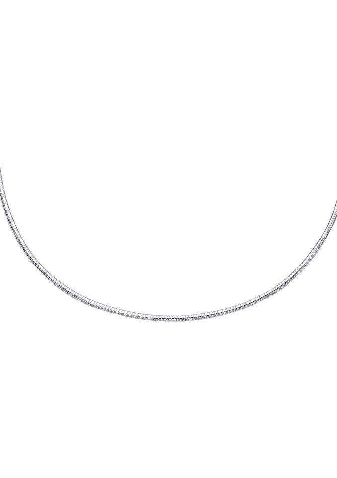 firetti Halsschmuck: Halskette / Collierkettchen in Schlangenkettengliederung in Silber 925