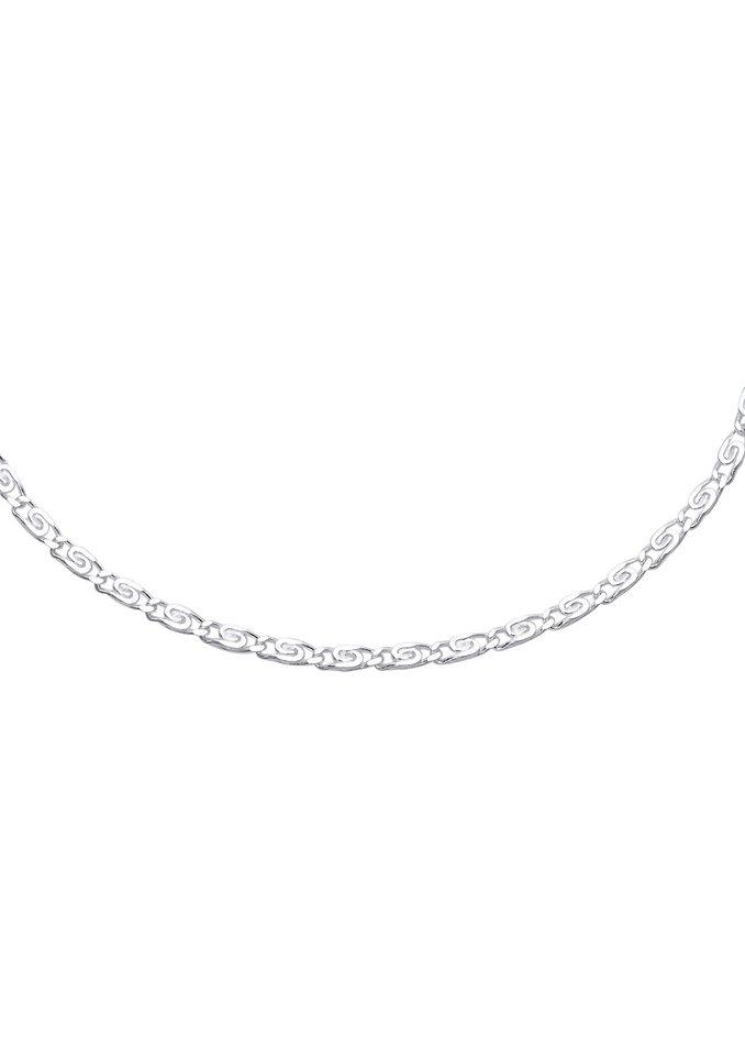firetti Halsschmuck: Halskette / Collierkettchen in S-Panzerkettengliederung in Silber 925