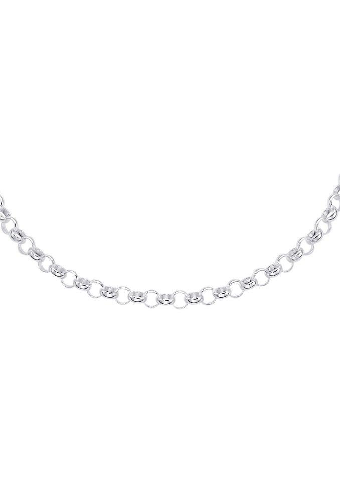 firetti Halsschmuck: Halskette / Collierkettchen in Erbskettengliederung in Silber 925