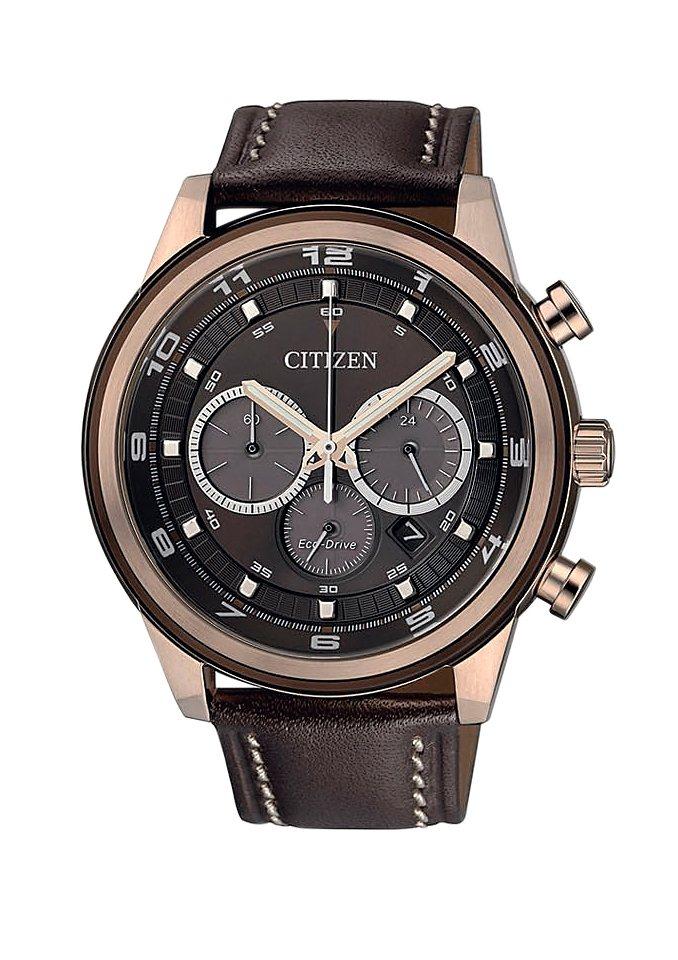 "Citizen, Chronograph, ""CA4037-01W"" in braun"