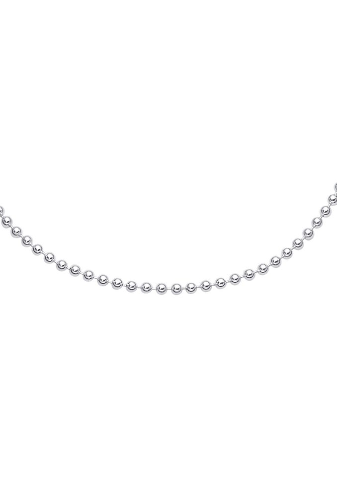 firetti Halsschmuck: Halskette / Collierkettchen in Kugelkettengliederung in Silber 925