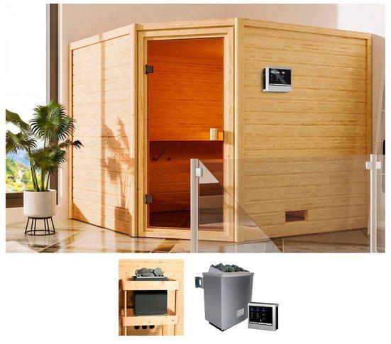 KARIBU Sauna »Leah«, 230x195x187 cm, 9 kW Ofen mit ext. Steuerung