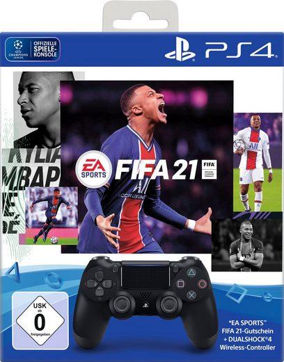 PlayStation 4 »DualShock« Wireless-Controller (inkl. FIFA 21 Vollversion Code)