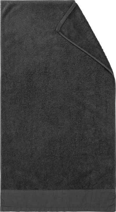 Marc O'Polo Home Duschtuch »Linan« (1-St), mit Bordüre aus Baumwoll-Leinengewebe