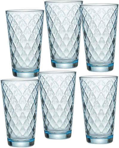 Ritzenhoff & Breker Longdrinkglas »Wela«, Glas, topaktuelles Innen-Facetting, 400 ml