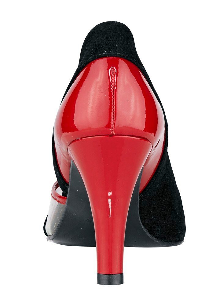 Pumps in schwarz/rot