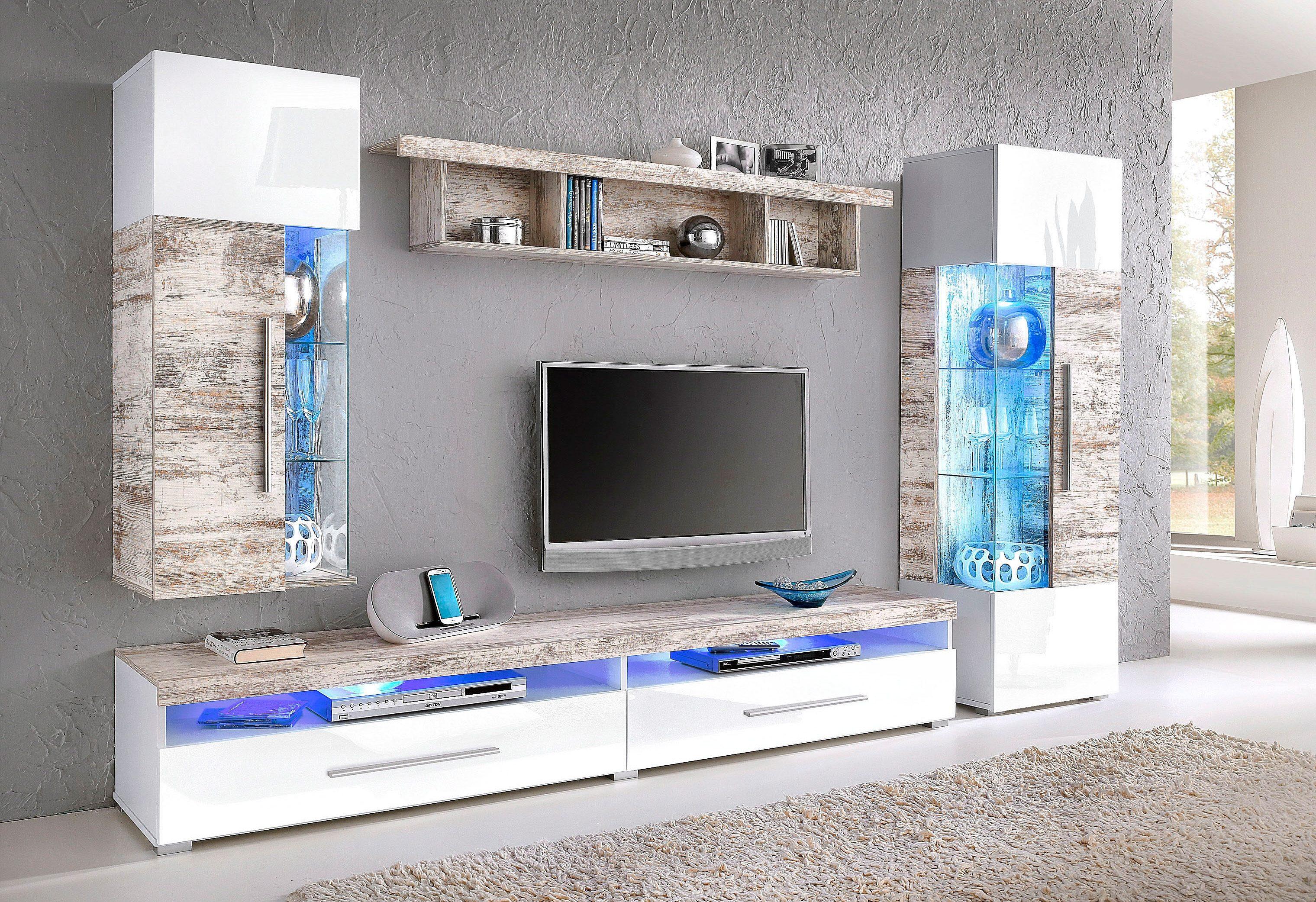Schrankwand Weiss Fotos : Wohnwand kaufen schrankwand anbauwand otto