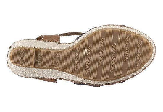 Tom Tailor Sandalette, in modischem Materialmix