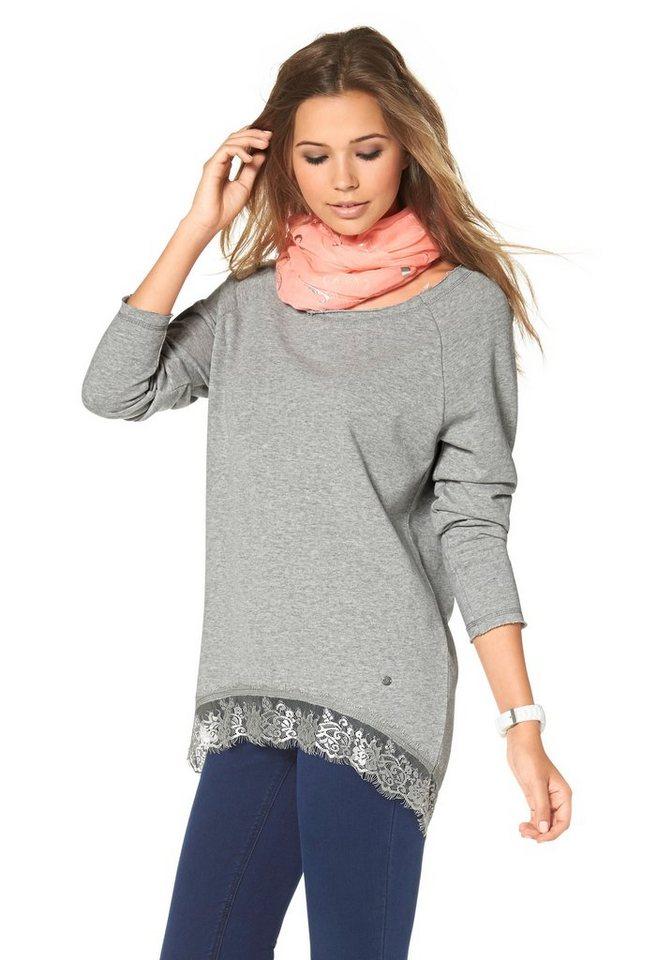 AJC Sweatshirt »Spitzensaum« in Grau