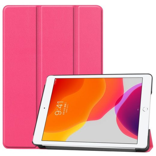 Wigento Tablet-Hülle »Für Apple iPad 10.2 2019 / 2020 7. / 8. Generation 3folt Wake UP Smart Cover Tablet Tasche Hülle Etuis«