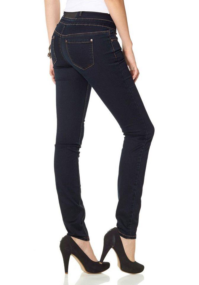 arizona skinny fit jeans mit gummizug einsatz high. Black Bedroom Furniture Sets. Home Design Ideas