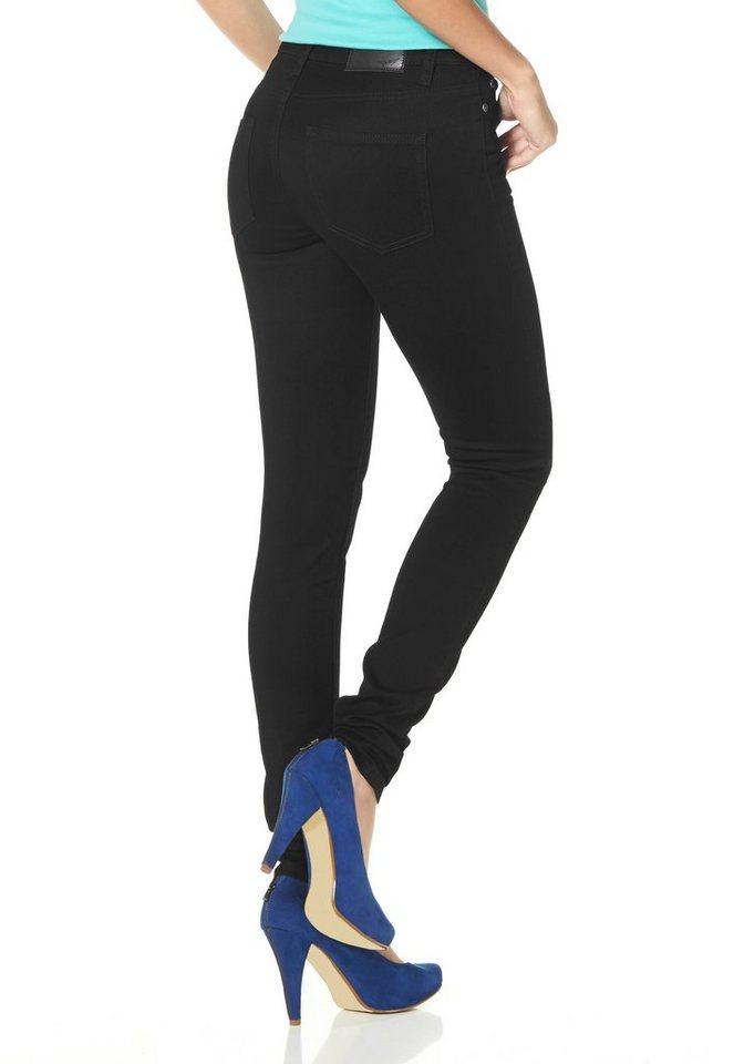 Arizona Skinny-fit-Jeans »Super-Stretch« in black