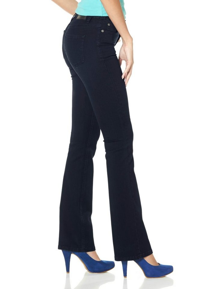 Arizona Bootcut-Jeans Mid Waist Super-Stretch in rinsed