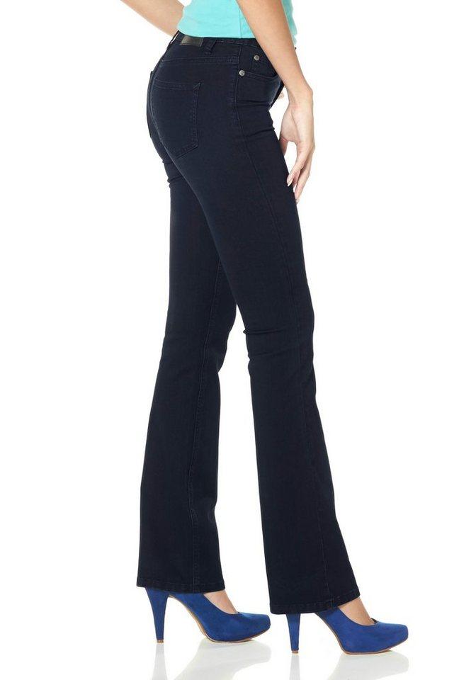 Arizona Bootcut-Jeans »Super-Stretch« in rinsed