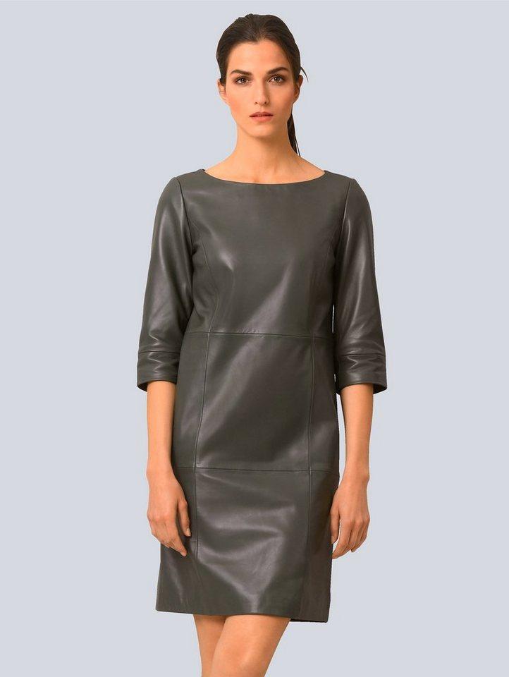 alba moda -  A-Linien-Kleid aus softem Lammnappa