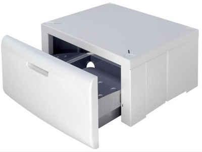BAUKNECHT Waschmaschinenuntergestell Bauknecht AMC 907 Universal Waschmaschinensockel Podest mit Schublade, Passend auf Ihre Waschmaschine einstellbar