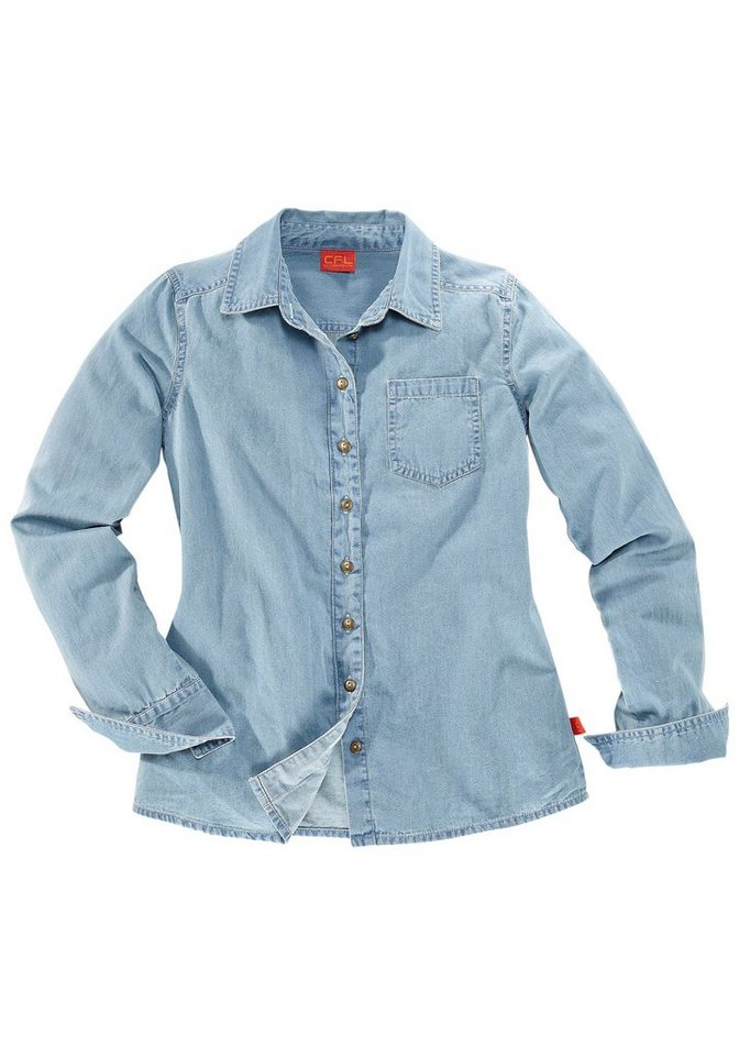 CFL Jeansbluse in blue-used