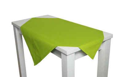 beties Mitteldecke »Farbenspiel«, ca. 80x80 cm Tischdecke in interessanter Größen- und Farbauswahl 100% Baumwolle für eine fröhlich Stimmung Uni Farbe (Apfelgrün)