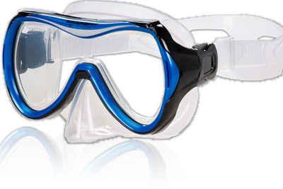 AQUAZON Taucherbrille »AQUAZON MAUI Junior Medium Schnorchelbrille, Taucherbrille, Schwimmbrille, Tauchmaske für Kinder, Jugendliche von 7-14 Jahren, Tempered Glas, sehr robust, tolle Passform«
