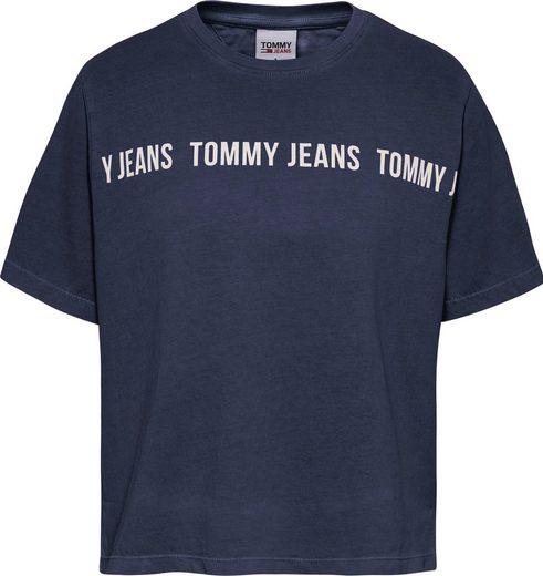 Tommy Jeans Rundhalsshirt »TJW BXY CROP TAPE SS TEE« mit großem Tommy Jean Logo-Schriftzug