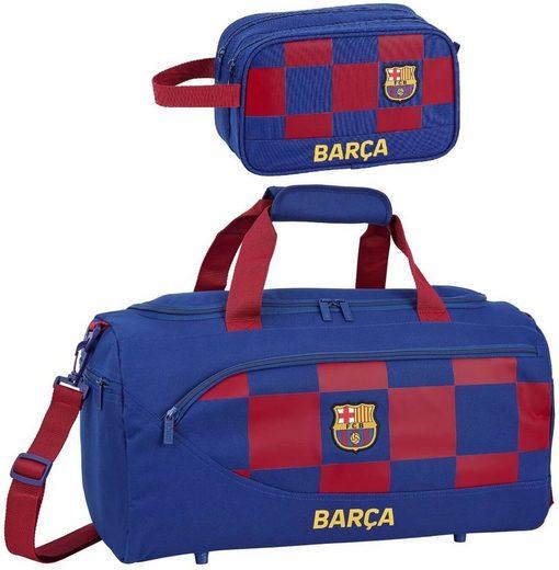 FC Barcelona Sporttasche »FC Barcelona - XL Sporttasche und Kulturbeutel« (Reißverschluss, Jungen), Geringes-Gewicht