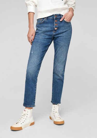 s.Oliver 7/8-Jeans »Slim: Denim mit Destroyes« Destroyes