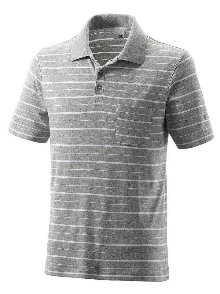 JOY sportswear Polo »WESTON« in titan mel. stripes