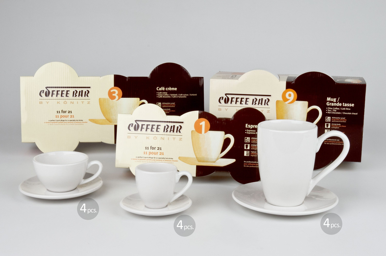 Könitz Coffeebar-Set für 4 Personen, 12 Gedecke »Beginner«
