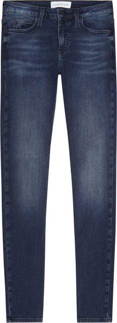 Hosen - Calvin Klein Jeans Skinny fit Jeans Mit CK Branding Knöpfen › blau  - Onlineshop OTTO