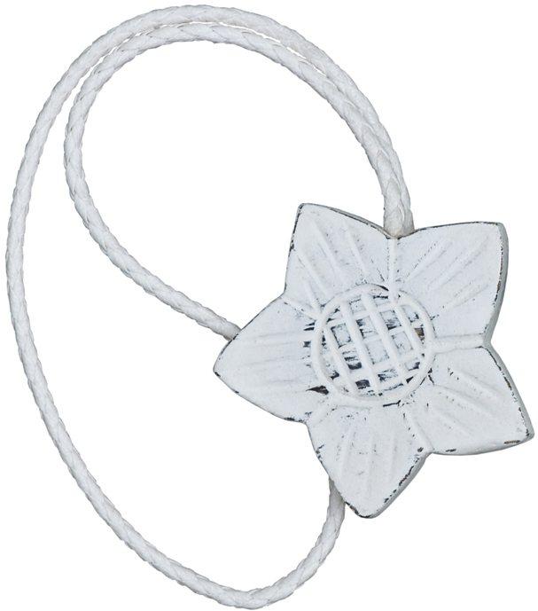 Magnethalter, Gerster, »Florena« (2 Stück) in weiß vintage