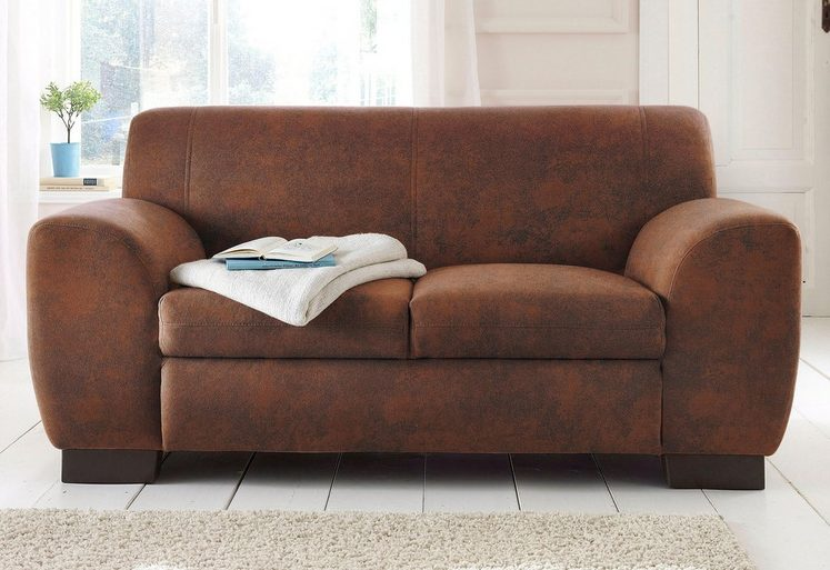 Home affaire Sofa »Nika«, 2 oder 3- Sitzer in Microfaser ...