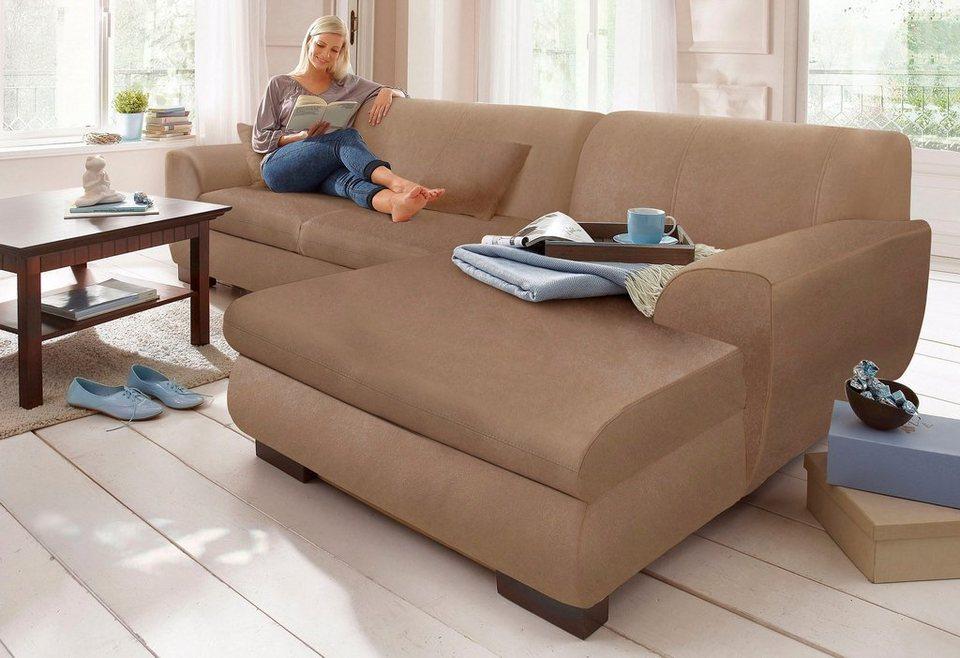 home affaire polsterecke nika melrose microfaser oder struktur wahlweise mit bettfunktion. Black Bedroom Furniture Sets. Home Design Ideas