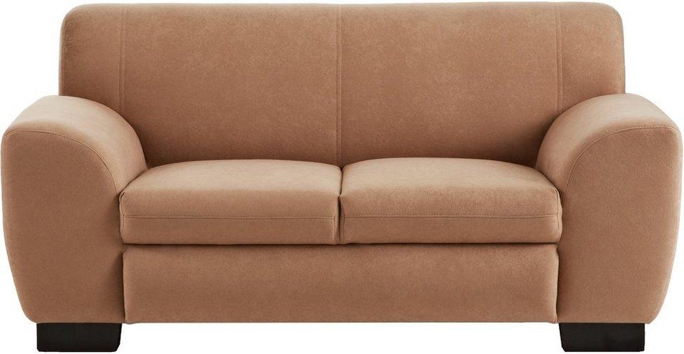 Home affaire Sofa »Nika«, 2-Sitzer, Microfaser PRIMABELLE® oder Struktur in café