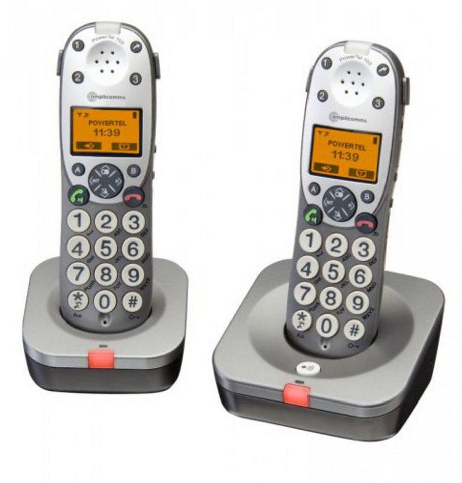 Audioline Telefon »amplicomms PowerTel 702« in Grau