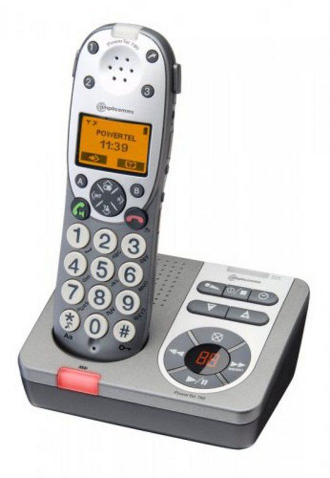 Audioline Großtastentelefon »amplicomm PowerTel 780« in Grau