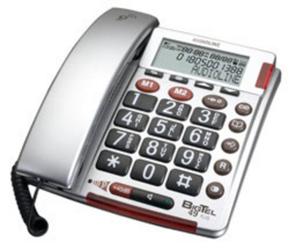 amplicomms Großtastentelefon »Big Tel 49 plus silber« in Silber