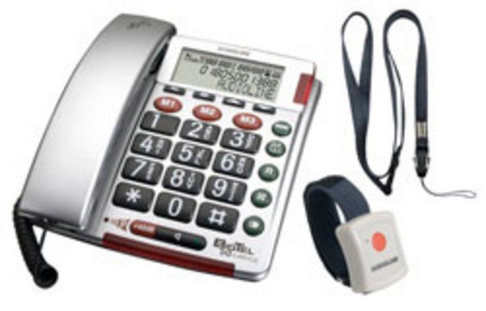 Audioline Telefon schnurgebunden »Big Tel 50 alarm plus silber« in Silber