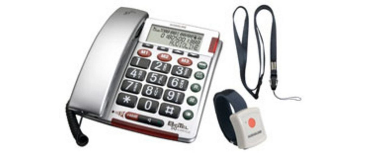 Audioline Telefon schnurgebunden »Big Tel 50 alarm plus silber«