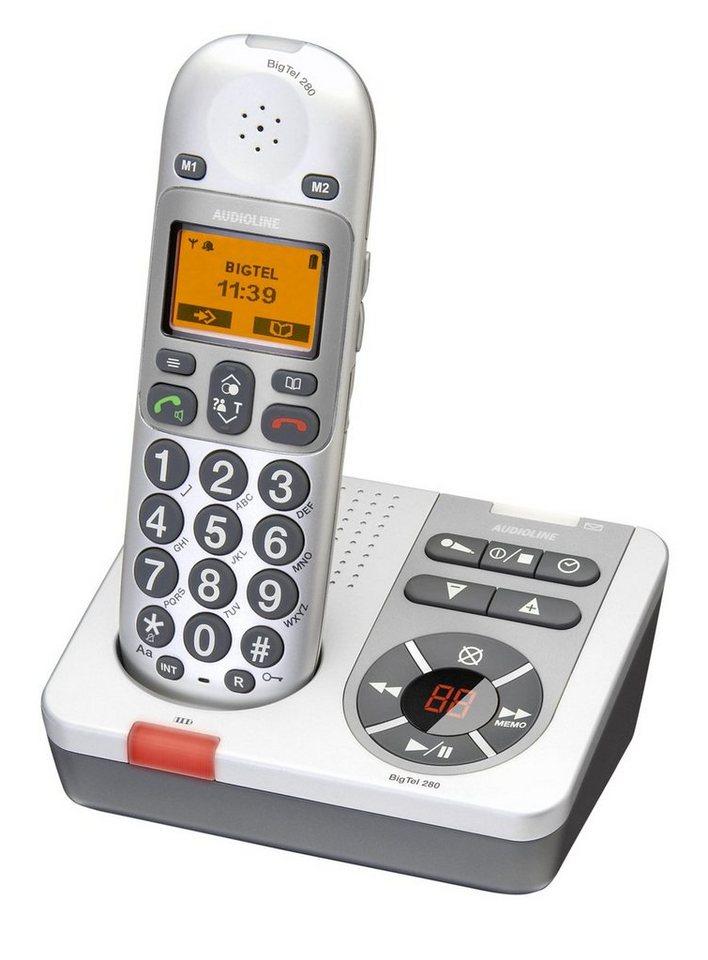 Audioline Großtastentelefon »Big Tel 280« in Silber