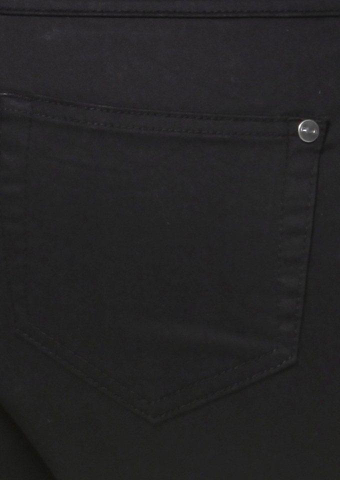 Tamaris 5-Pocket-Hose mit schmalem Beinverlauf in schwarz