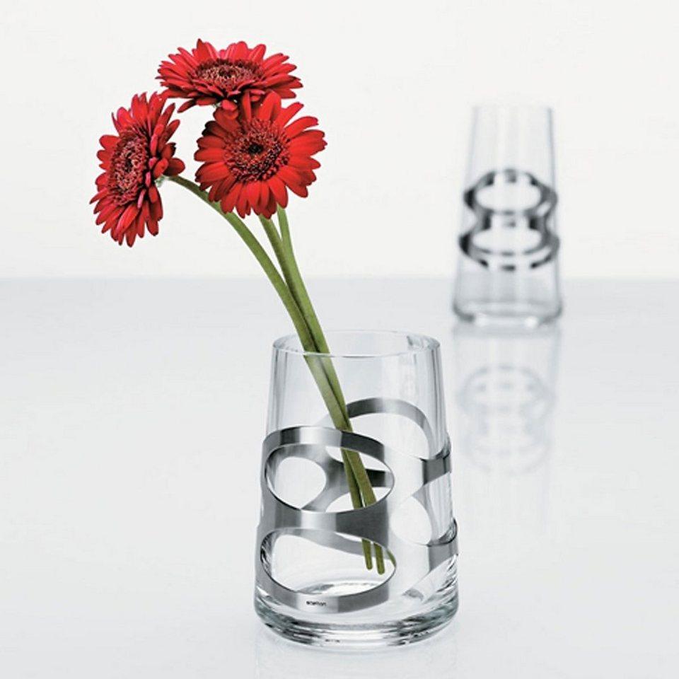 Stelton Stelton Vase EMBRACE 16.5 cm in satin poliert, klar